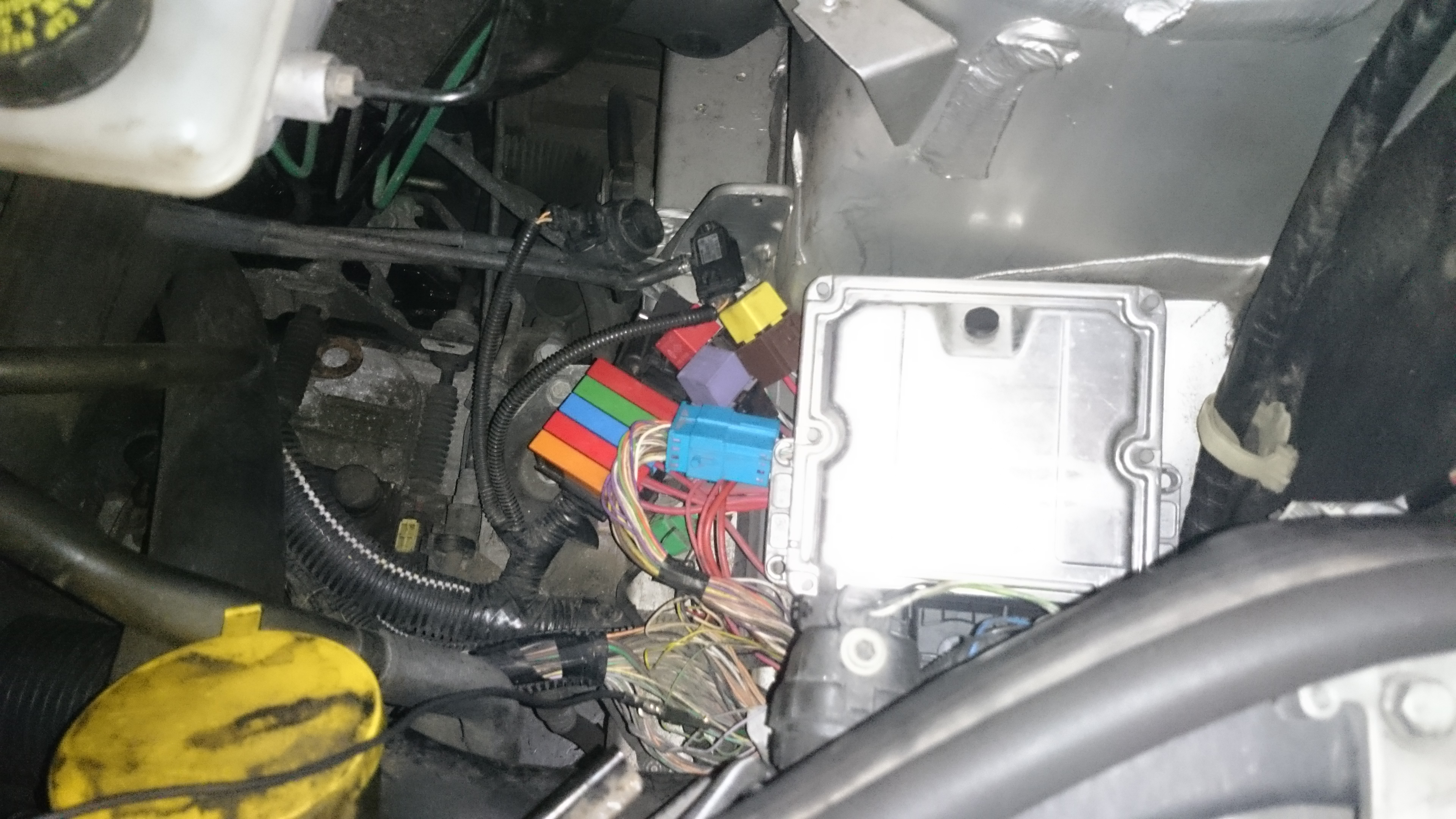 In the engine bay the ECU was exposed and the wiring loom stripped so  continuity could be checked, where it was found that the canbus line  between the UCH ...